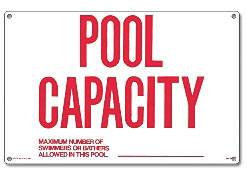 Pool Sign - Pool Capacity - 40361