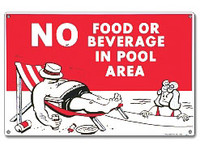 Pool Sign - No Food Or Beverages - 40369