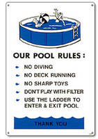 Pool Sign - Our Pool Rules - Aboveground Pools - 41370