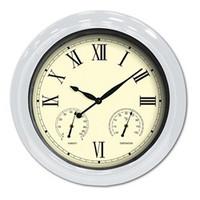 "18"" Clock/Thermometer/Hygrometer - White"