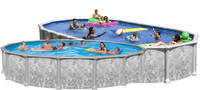 "52"" Deep Deluxe 8000 Galvanized Steel Above Ground Pool Kit"