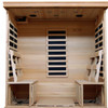 Monticello - Hemlock 4 Person FAR Infrared Sauna With Carbon Heaters - Inside View