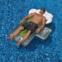 Beer Mug Inflatable Pool Float w/ Mini Cooler