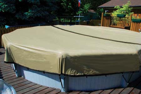 Winter Mesh Pool Cover Above Ground 12X24 Oval Swimming Pool