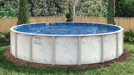 "Caspian Galvanized Steel Pool - 6"" Top Seat - 48"", 52"" & 54"" Deep"