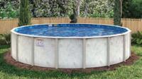 "Caspian Galvanized Steel Pool - 6"" Top Seat - 48"", 52"" & 54"" Deep"
