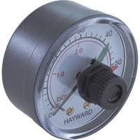 "CLEARANCE - Pressure Gauge, Hayward, 1/4""mpt, 0-60psi, Back Mount, Adj Dial - ECX2712B1"