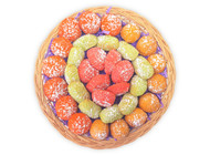Assorted colored Maamoul - Top view - Libanais Sweets