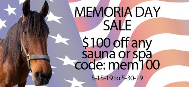 Memorial Day hot tub and sauna sale