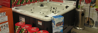 box store display spas