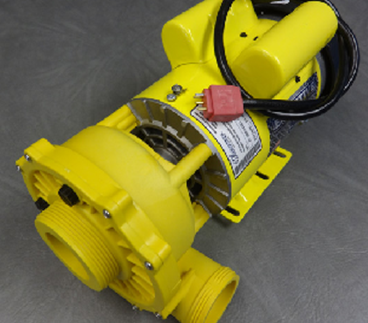 coast spa pump yellow