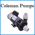 coleman spa pumps