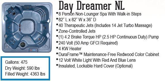 Day Dreamer QCA Spas hot tub