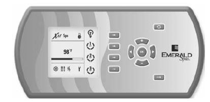 Emerald Spa Control Panel Topside on