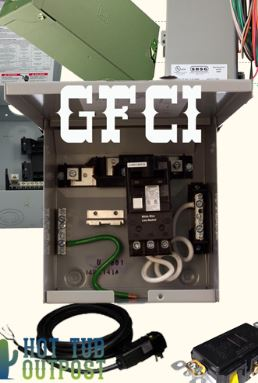 hot tub electrical installation hookup gfci gfci ground fault circuit interrupter