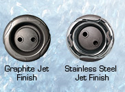 graphite vs stainless steel Great Lakes spa jets