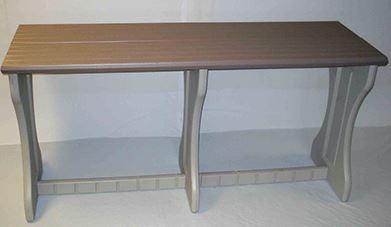Gray outdoor bar table