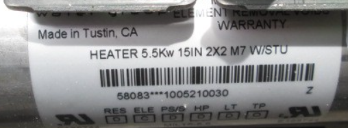 heater 5.5 kW