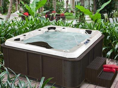 inviting hot tub