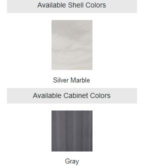 mystic silver marble