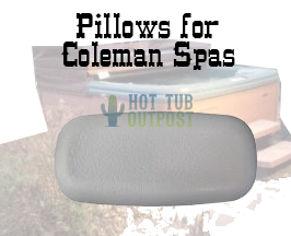 Spa pillows for Coleman spas at Hot Tub Outpost.
