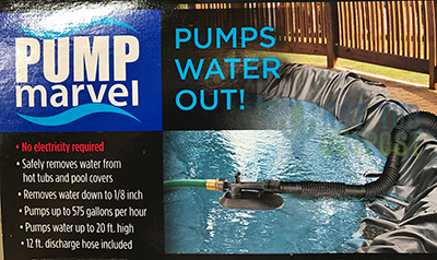 pumps water out