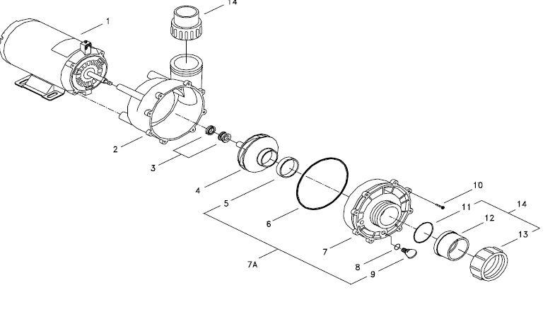 4hp Spa Pump 56 Frame 230volt 2 Speed Qca 05825013 5340 4
