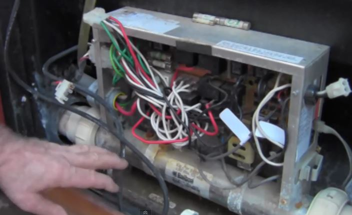 Troubleshoot hot tub heater GFCI trips