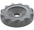 gray valve cap scalloped design top access