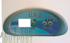 Baja Spa Control Panel Overlay 3 Button Crescent BAJA-B8519959-3