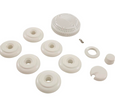 Gruber Cap Set 6 Jet Bath Kit CS30906 white