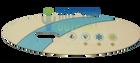 DreamMaker Spa Overlay 407016 4 Button
