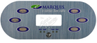 Marquis Topside Control Overlay 650-0742 E-Series 6-Button