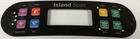 Artesian Island Control Panel Overlay 8 Button OP11-0168-08