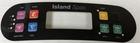 Artesian Island Control Panel Overlay 7 Button OP11-0167-08