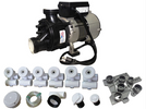 Slimline Jetted Tub Assembly Kit with 1HP Pump and Stand 3-80-5080