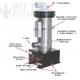 Vertical Low Flow 5.5KW 230V Universal Spa Heater 27-V310-7T-K