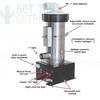 Vertical Low Flow 5.5KW 230V Universal Spa Heater 27-V310-5T-K