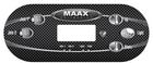 Maax Spa Topside Control Panel Overlay 110241 5 Buttons TP600