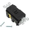 Leviton 20 Amp GFCI SPST Black 8590-XE