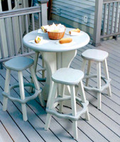 Gray outdoor table