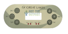 Great Lakes 6 Button Control Panel Overlay Emerald Spa 90053700