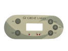 Great Lakes 5 Button Control Panel Overlay Emerald Spa 90053600