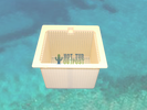 Skim Box Basket Emerald Spas White
