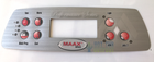 Maax Coleman Performance 7 Button Control Panel Overlay 107735