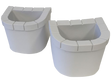 DreamMaker Planters Crossover Collection Spas Sterling White