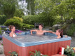 Juno hot tub by QCA Spas.