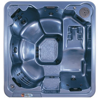 GT327 hot tub by QCA Spas with lounger.