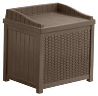 Deck box wicker seat