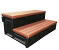 "36"" Redwood Confer Leisure Accents Spa Step"
